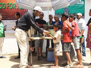 Food distribution in village